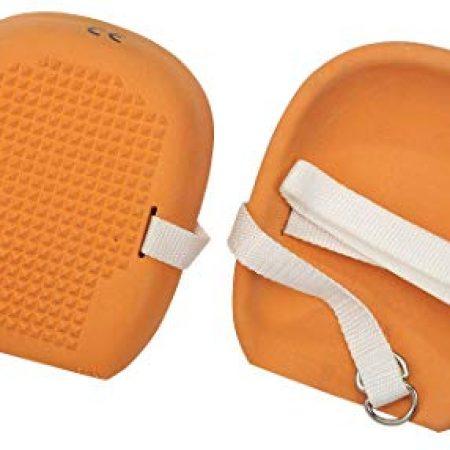Orange Rubber Knee Pads